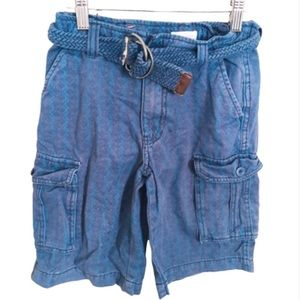JOE FRESH Belted Cargo/Utility Shorts Blue Boys 8Y